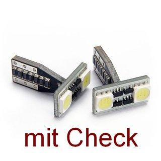 W5W mit 2 LED 4PowerChip T-Form -inkl. Check-