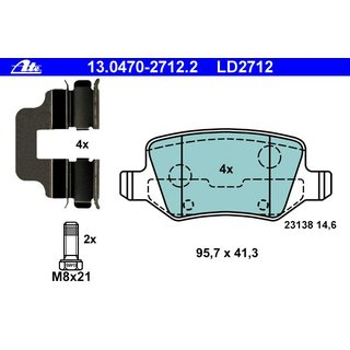 ATE CERAMIC LD2712 MERCEDES