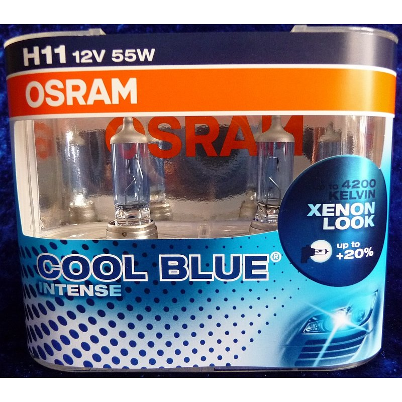 osram cool blue intense h11 21 99. Black Bedroom Furniture Sets. Home Design Ideas