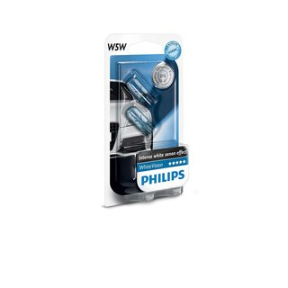 W5W Philips White Vision
