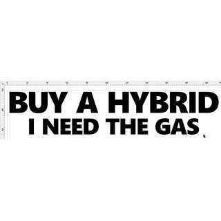 Aufkleber Buy Hybrid Need Gas
